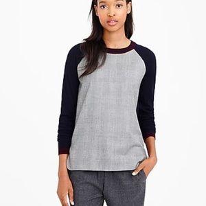 J Crew merino wool sweater glen plaid size XS